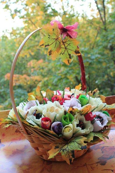 Осенний букет своими руками к дню учителя