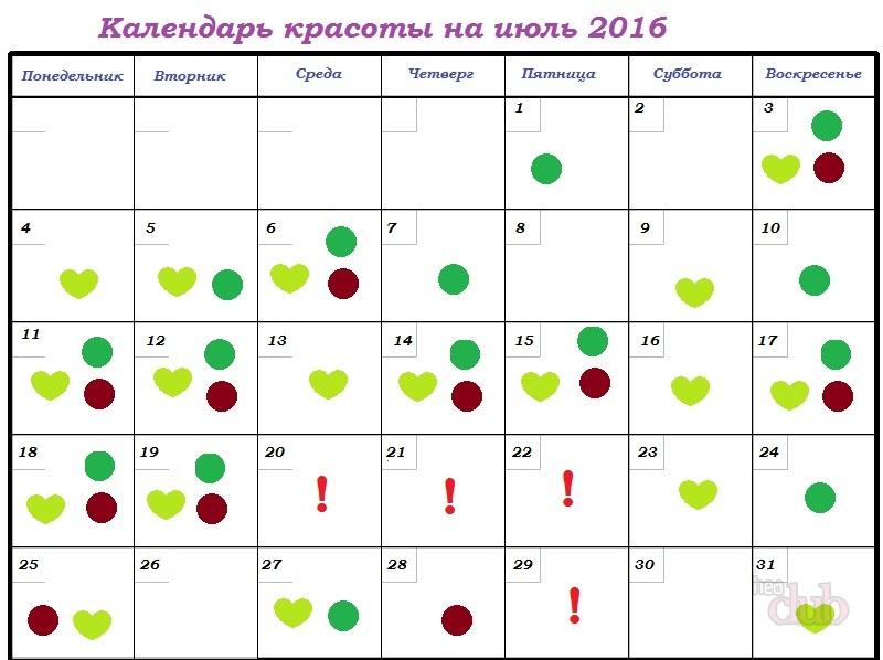 Лунный календарь красоты и диеты 2017