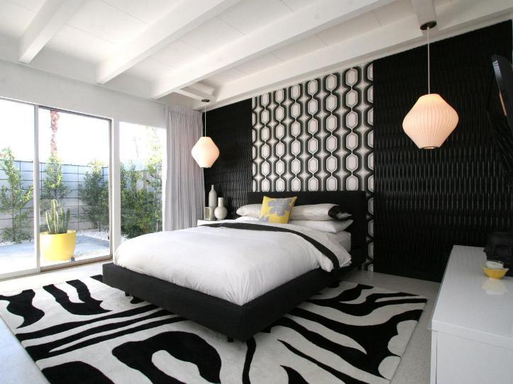 Camera Da Letto Bianco E Nero : Interior design in bianco e nero. creare un interno in stile bianco