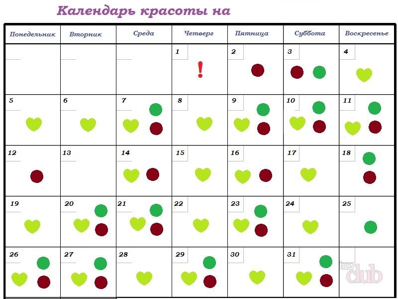 Mondkalender Der Kosmetischen Verfahren Des Jahres Wie Man Einen