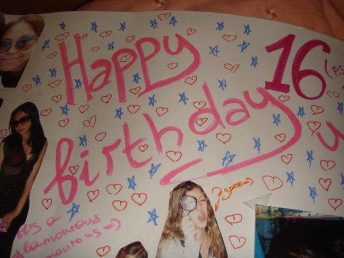 Плакат для подруги на день рождения своими руками 27